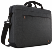"Case Logic 15.6"" Slim Laptop Attache Case Bag - ERAA-116 Obsidian"